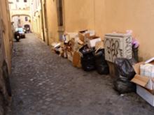 Roma: i flash dei turisti sulle montagne di rifiuti